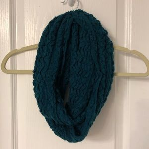Deep Turquoise Textured Infinity Scarf